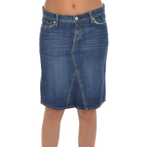 miss posh womens denim jean knee length skirt ebay