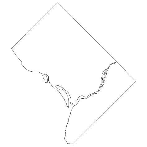 washington dc map silhouette go printables