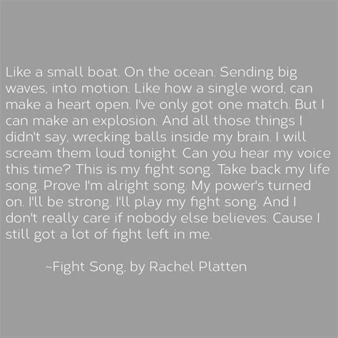 my my song a lyric from the song fight song by platten one of