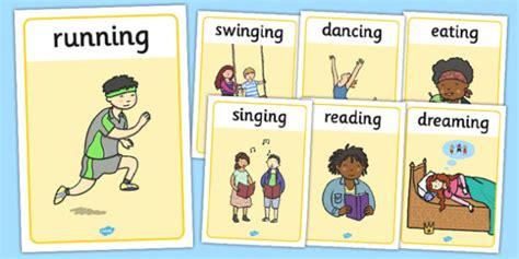 Verb Action Display Posters   verb, display, poster, sign