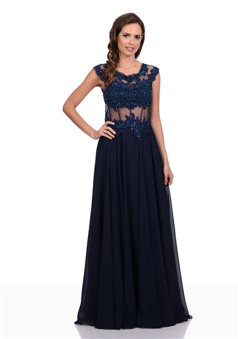 Handmade Evening Dresses - chiffon evening dress with handmade lace in lollipop