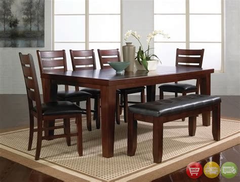 bench style dining table sets bardstown 6 piece rustic dining room furniture set w