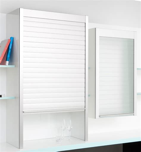 Cabinet Kitchen Design the new flush glass roller shutters for furniture go by