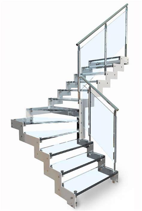 altezza ringhiera scala in acciaio rettilinea con gradini in vetro bologna
