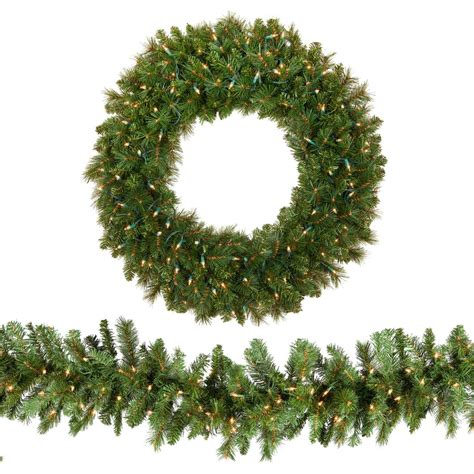 l post garland with lights best 28 evergreen garland wintry pine 9ft