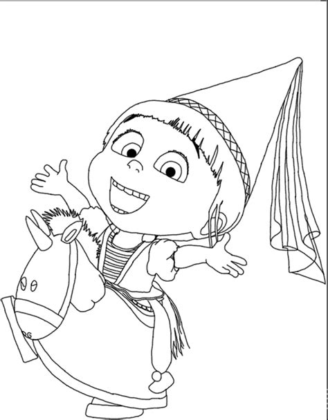 agnes unicorn coloring page agnes despicable me 2 coloring pages kiddo crafts
