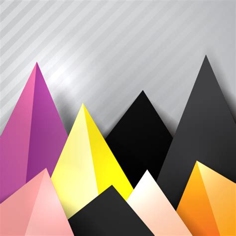 triangle background vector download triangle embossment colored background vector graphics