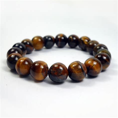 Perhiasan Gelang Batu Tiger Eye Original Bracelet gelang biduri sepah tiger eye fosil coklat emas ezyhero