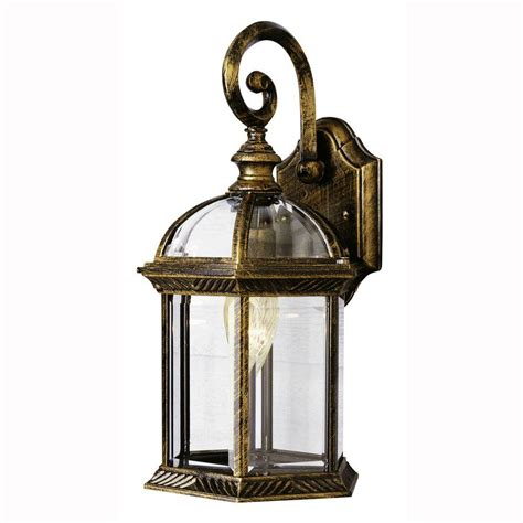 Coach Lights Outdoor Bel Air Lighting Wall Mount 1 Light Outdoor Black Gold Coach Lantern With Clear Glass 4181 Bg