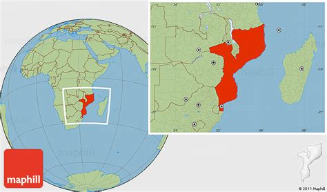 mozambique in world map savanna style location map of mozambique