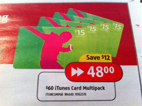 Where Can You Use Itunes Gift Cards - deal 60 itunes gift card multipack for 48 at future shop iphone in canada blog
