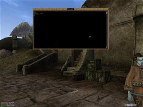 morrowind console commands the elder scrolls iii morrowind tweak guide