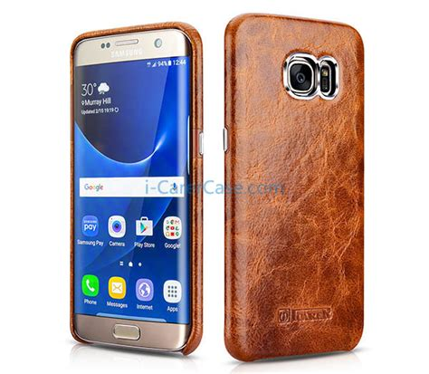 Bob Series Samsung Galaxy S7 Edge Leather Cover Usams icarer samsung galaxy s7 edge wax back cover series genuine leather