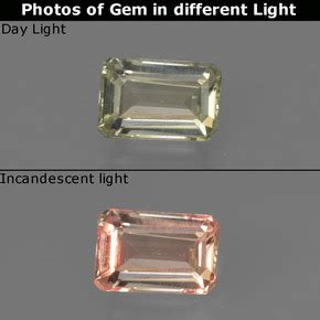 Color Change Diaspore 4 82ct 0 8 carat octagon emerald cut 6 6x4 5mm 0 and