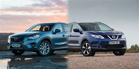 nissan mazda 5 nissan qashqai vs mazda cx 5 side by side uk comparison