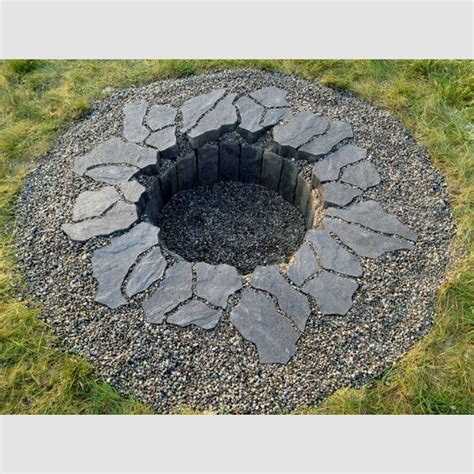 how to build a firepit in the ground pin by tina sanders hill on gardening landscape