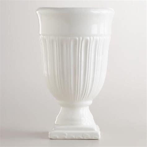 White Small Vase by Small White Urn Vase World Market