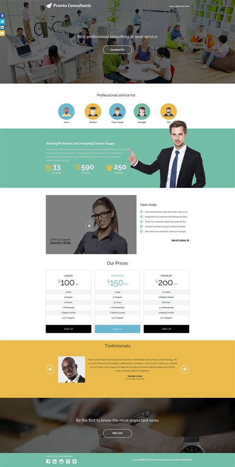 Business Responsive Landing Page Template 54721 Business Landing Page Template