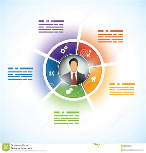 It Presentation Template presentation template with avatar royalty free stock photo