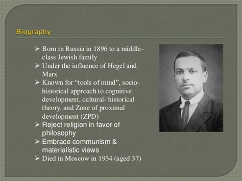 biography vygotsky cognitive approaches to learning socio cultural theory by