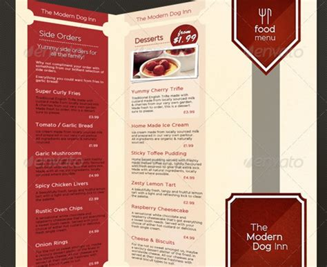 3 fold brochure template psd 25 food brochure template word psd and indesign format
