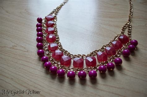 How To Make A Handmade Necklace - diy square bead and chain necklace my girlish whims