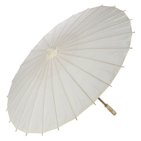 Paper Umbrella - 28 quot beige ivory paper parasol umbrellas on sale now