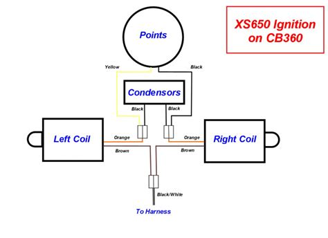 xs650 ignition wiring diagram xs650 free engine image