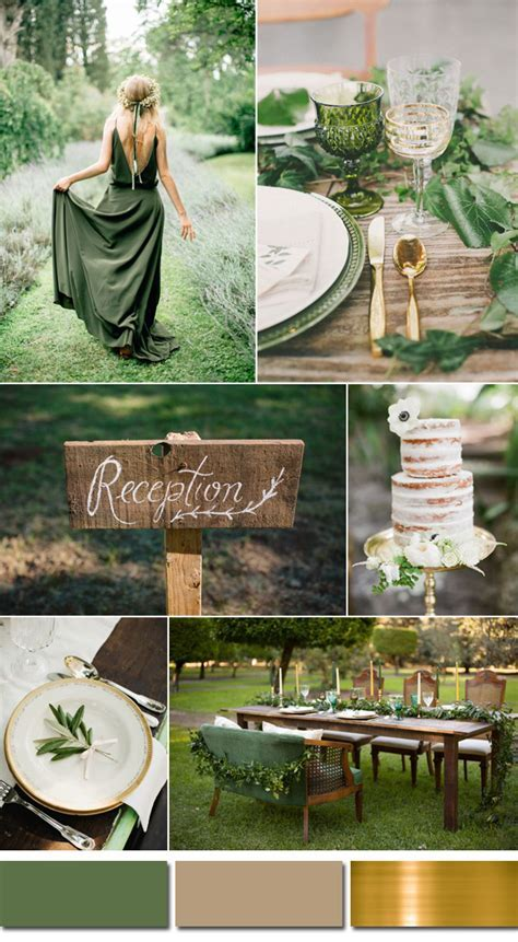 Kale Green Wedding Color Ideas for 2017 Spring & Summer