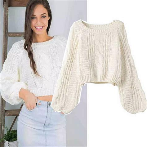 Sweater Wanita Fashion Garsel 7 knit pullover sweater 2015 autumn chompas mujer fashion o neck tops fall fashion