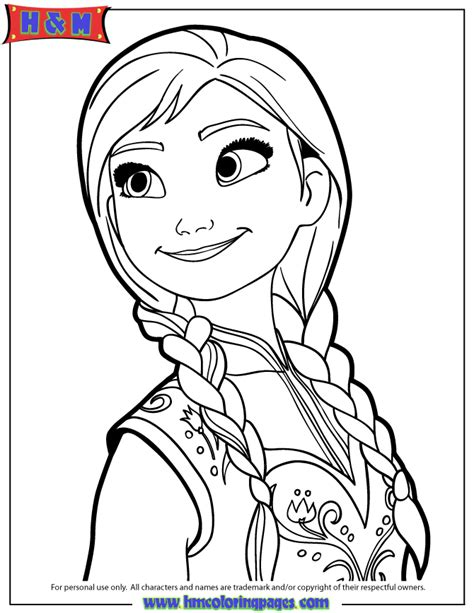 portrait of anna coloring page h m coloring pages