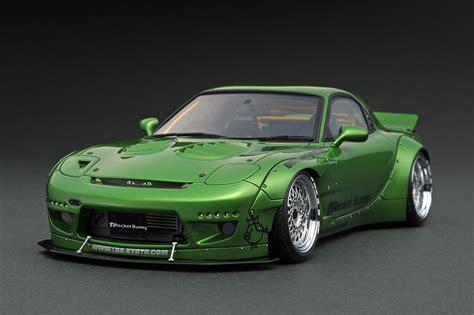 1 18 Ignition Mazda Rx7 Rocket Bunny ig1037 1 18 rocket bunny rx 7 fd3s green metallic line