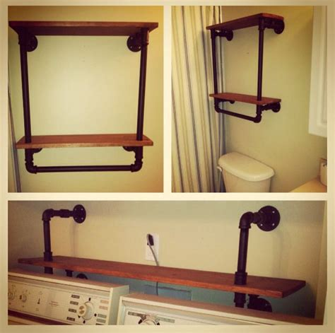diy pipe shelf the bar pinterest shelves washer and
