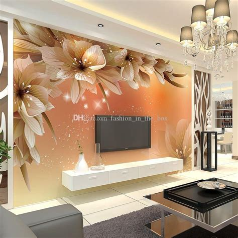 Custom Mural Wallpaper For Bedroom Walls 3d Luxury Gold Jewelry Wa home decor wall murals peenmedia