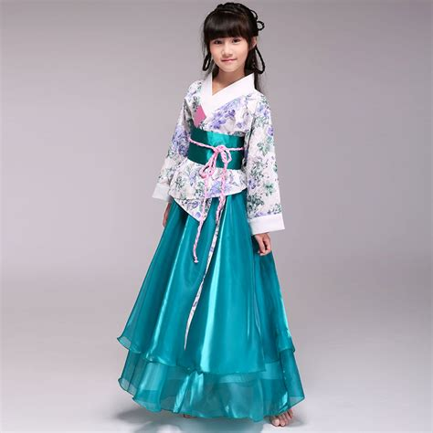 Stages Dress Gil green folk fairies tang suit hanfu
