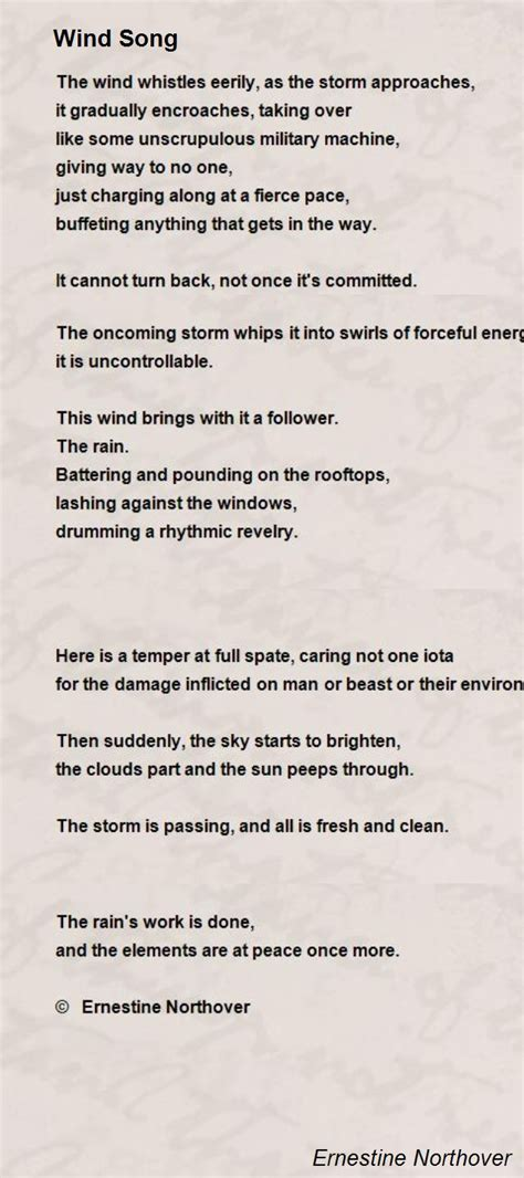 song poem wind song poem by ernestine northover poem