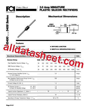 1n5401 diode datasheet 1n5401 datasheet pdf components international