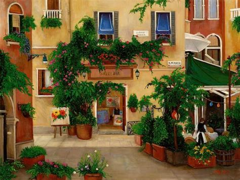 best cafe in venice italy travel artwork by betty lou barry