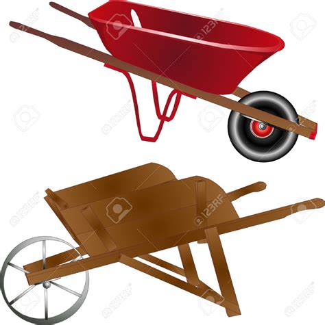wheelbarrow clipart cart clipart wooden wheelbarrow pencil and in color cart