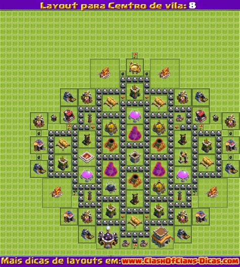 layout vila nivel 8 melhores layouts para clash of clans centro de vila n 237 vel