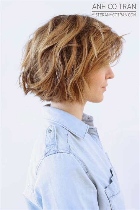 textured layered wavy hair by anh co tran hair with a best 25 short textured bob ideas on pinterest textured