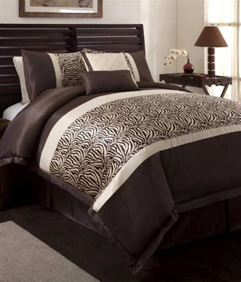 zebra comforter full size triangle home fashions 18504 lush decor 6 piece zebra