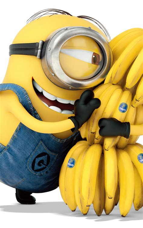 wallpaper minions banana minion hugging banana www pixshark com images