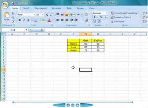 creating a chart from your table of data in excel