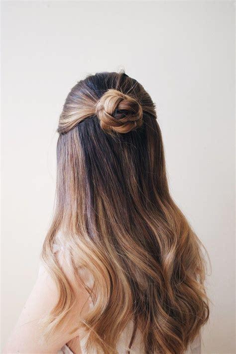 hairstyles half up half down bun how to sleek braided bun rosettes hair style and hair
