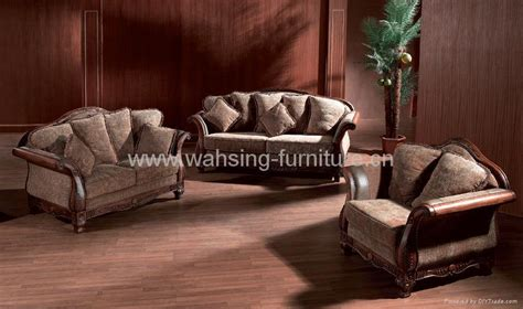 leather and fabric living room furniture antique royal solid wood furniture leather fabric sofa set living room furniture b225 230