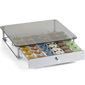 keurig k cup storage drawer glass top in tea and coffee