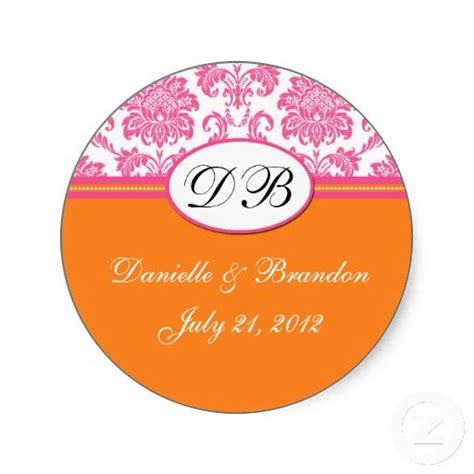 17 best images about clear 17 best monogram stickers for wedding images on clear labels seals stickers