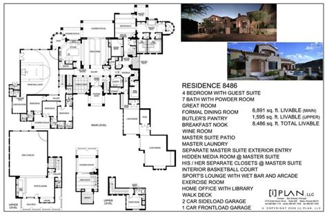luxury house plans with elevators 8 best images about luxury home plans 7500 square feet