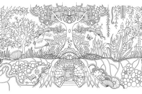 secret garden or enchanted forest coloring book free johanna basford coloring pages